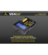 Xtar VC4 - Ladegerät für Li-Ion 3,6V - 3,7V und NIMH Akkus mit USB Kabel